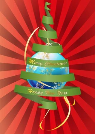 illustration of christmas tree with xmas ball Stock Vector - 16401571