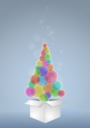 illustration of christmas tree in white box Stock Vector - 16459333