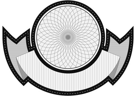 spirograph: illustrator of badge with spirograph design