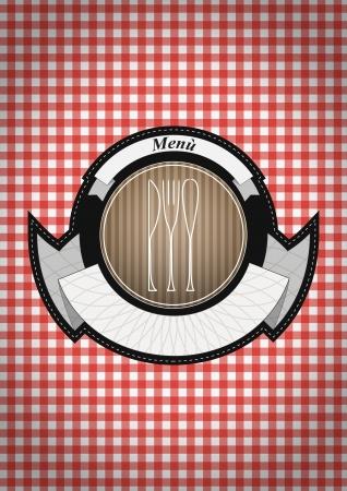 illustration of old vintage menu badge  Vector