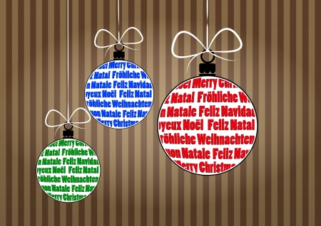 illustration of christmas ball with merry christmas text  Stock Vector - 16556494