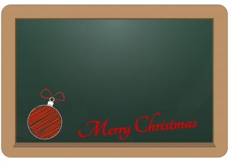illustration of chalkboard with merry christmas text Stock Vector - 16556482