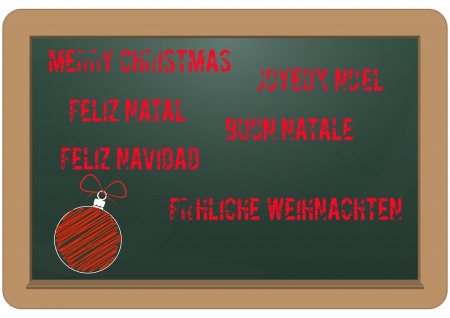 illustration of chalkboard with merry christmas text Stock Vector - 16556484