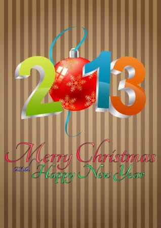 illustration of 2013 text with christmas balls Stock Vector - 16583956