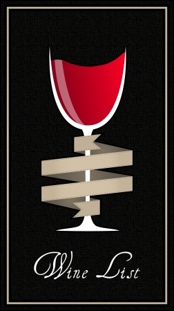 illustration of elegant wine list with red wine Vector
