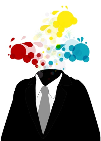illustration of business man with abstract colorful Stock Vector - 16631643
