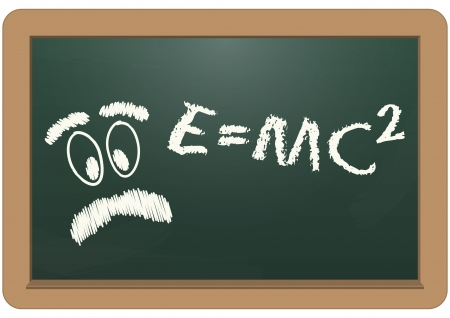 illustration of e=mc2 text with einstein face