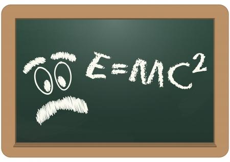 einstein: illustration of e=mc2 text with einstein face Illustration