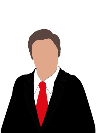 illustration of business man with red tie and faceless Stock Vector - 17210496