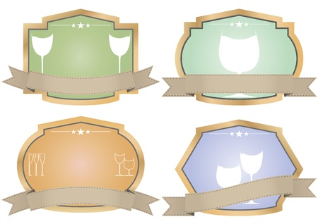 illustration set of vintage wine badge Stock Vector - 17249327