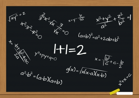 illustration of chalkboard with math formula  Vector