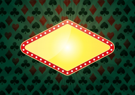illustration of yellow banner for casino with green background Stock Vector - 18816600