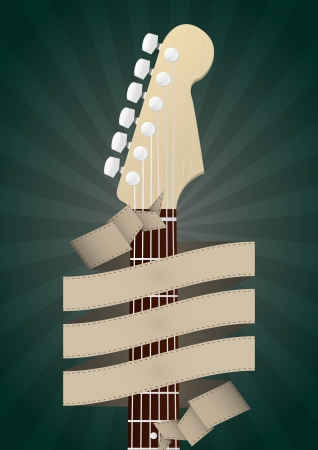 headstock: illustration of headstock guitar with blank banner