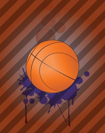 stein: illustrazione di palla da basket con grunge Steins