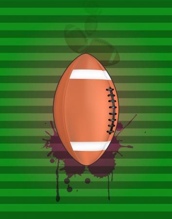 stein: illustration of football ball with grunge stein Illustration