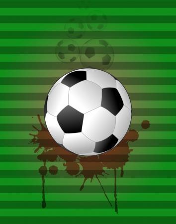 stein: illustration of soccer ball with grunge stein