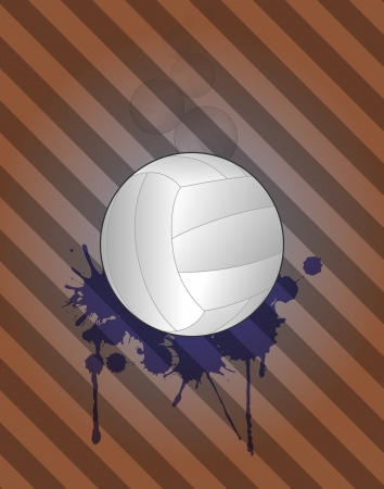 illustration of volley ball with grunge stein Stock Vector - 19482549