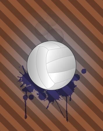 stein: illustrazione di pallavolo con grunge stein Vettoriali