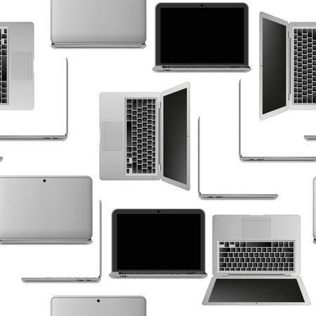 illustration of laptop seamless pattern Stock Vector - 19617329
