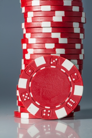 holdem: gambling casino color chips on table