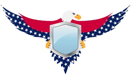 united state: illustration of united of states shield with eagle