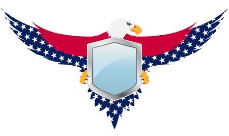 spojené státy americké: ilustrace United států štít s orlicí