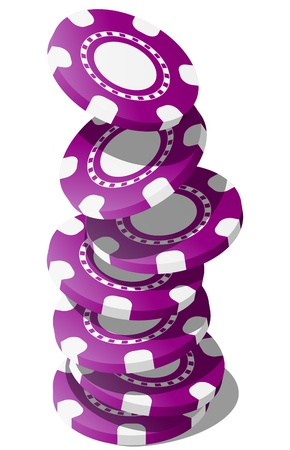 illustration of falling violet chips casino Vector