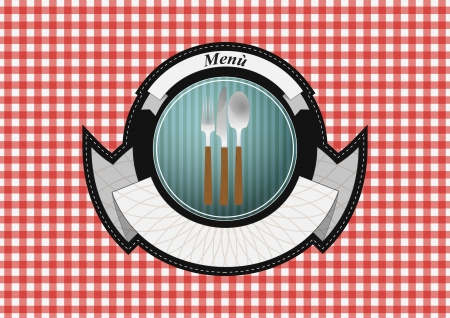 illustration of old vintage menu badge  Vector