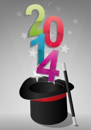 dressy: ilustraci�n de sombrero superior con el texto 2014