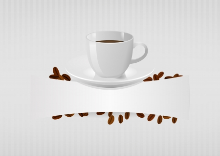 teaspoon: illustration of coffee cup with blank space