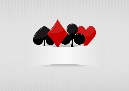 illustration of suit poker symbol with blank space Vector