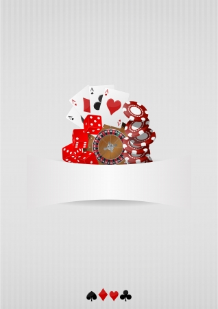 illustration of object casino with blank space Vector