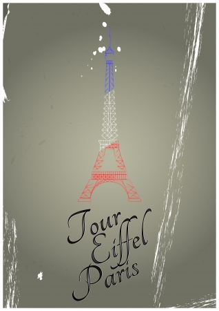 illustration of tour eiffel with vintage background Stock Vector - 22697885