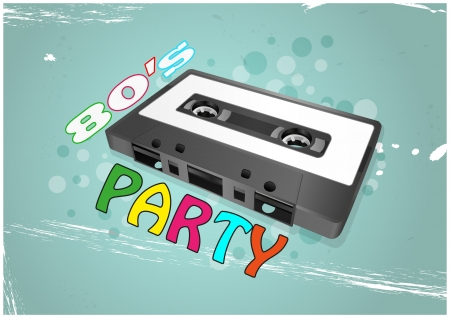 illustration of vintage retro tape cassette Vector