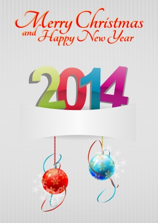 illustration of 2014 text with space blank Vector