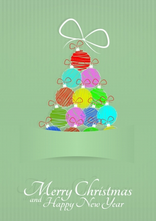 illustration of christmas tree with blank space Vector