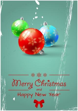 illustration of colorful christmas balls Stock Vector - 23847027
