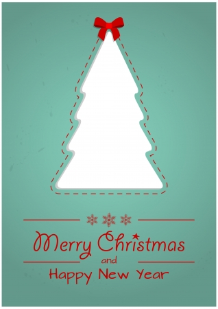 illustration of blank xmas tree with xmas text Vector