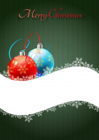 illustration of christmas balls with blank space Vector