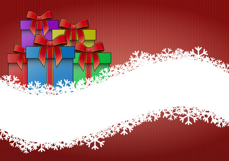 illustration of christmas gift with blank space Vector