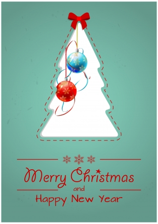 illustration of blank xmas tree with xmas text Stock Vector - 24156646