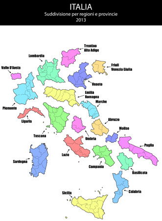 tuscan: illustration of italy province and region maps