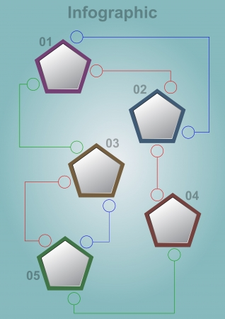 blank space: illustration of geometric infographic with blank space