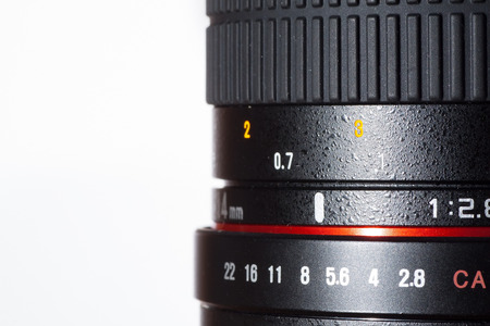 profesional: photography of profesional photo lens detail Stock Photo