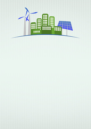 illustration of green energy with blank area Vector