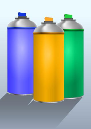 3 つのカラー スプレーの図にすることができます。 写真素材 - 31400676