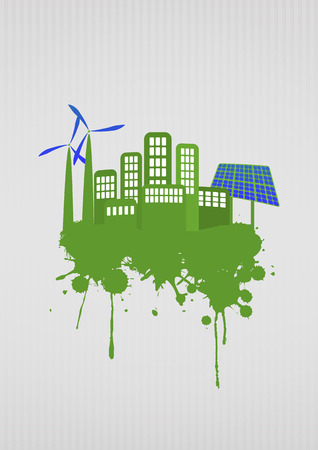 illustration of green energy with stain Vector