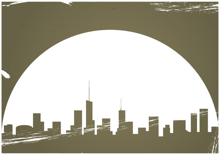 illustration of urban city with vintage background Vector