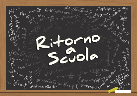 illustration of billboard with back to school text in italian language Vector