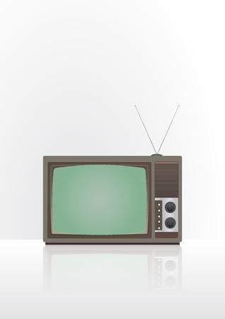 vintage television: illustration of vintage television with light background